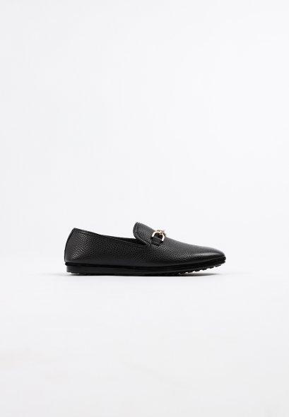 รองเท้าโลฟเฟอร์หนังแท้ MAC and GILL minimalist in Black Premium Leather