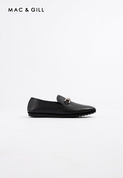 รองเท้าโลฟเฟอร์หนังแท้ Minimalist in Black Premium Leather