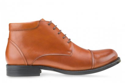 MAC & GILL Leather CAPTOE Derby Leather Boots with side Zip