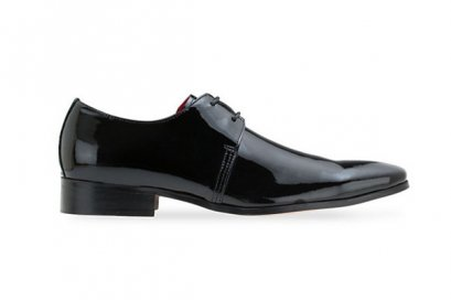 Patent Leather Lace Up - Black