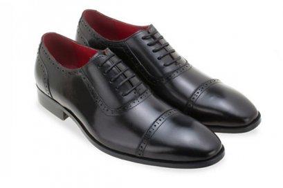 รองเท้าหนังแท้ Oxfords Half Brogue - Black MAC and GILL