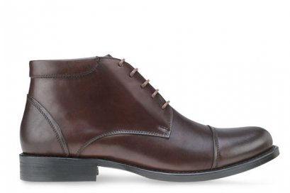 MAC & GILL DERBY CAPTOE LEATHER BOOTS in Genuine Leather Shoes with side Zip