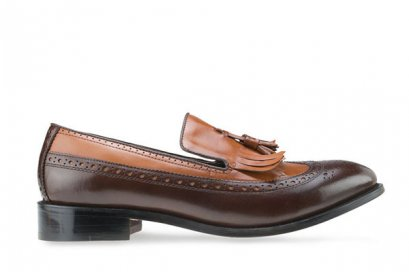 MAC & GILL Tassel Wingtip Fringe Loafers - Brown