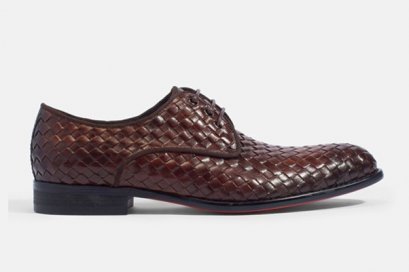 Buono Woven Leather Lace-Up BRAIDED DERBY LEATHER SHOES MAC AND GILL