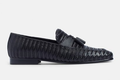 WOVEN LEATHER LOAFERS SHOES CASUAL SHOES FOR MEN