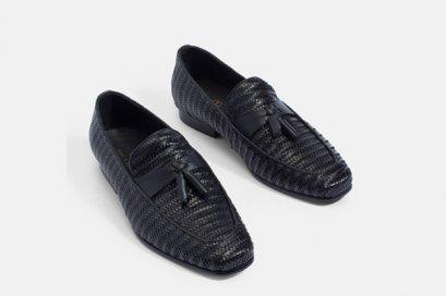 รองเท้าหนังแท้ชายแบบทอ WOVEN LEATHER