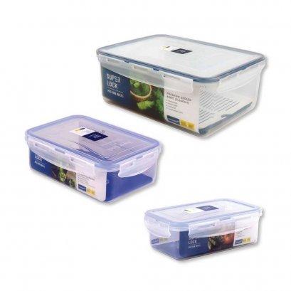 [ซื้อ1แถม1] SUPER LOCK กล่องใส่อาหาร แบบเหลี่ยม ปราศจากสารก่อมะเร็ง (BPA Free)