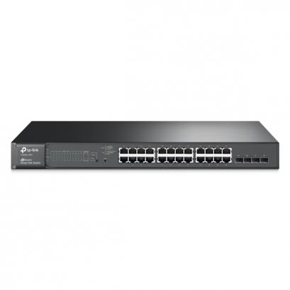 TP-LINK T1600G-28PS JetStream 24-Port Gigabit Smart PoE+ Switch with 4 SFP Slots