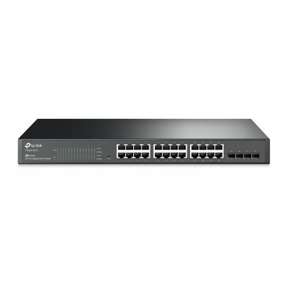 TP-LINK T1600G-28TS (TL-SG2424) JetStream 24-Port Gigabit Smart Switch with 4 SFP Slots