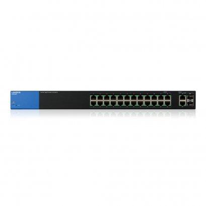 Linksys Business LGS326MP PoE+ Smart 24 Port Gigabit Network Switch + 2X Gigabit SFP/RJ45 Combo Ports (384W)