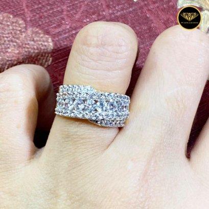 แหวนเพชรเบลเยี่ยมแท้ D Color VVS 1.36ct Heart & Arrow