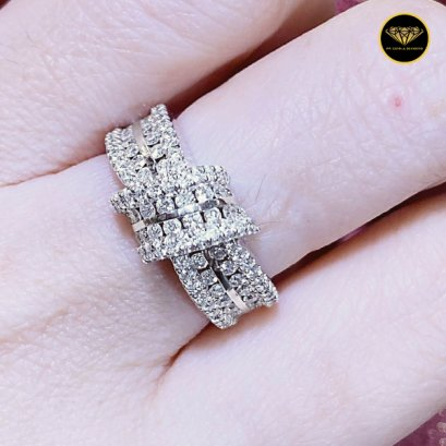 The Bowing cute girls diamond ring R0033G18KPW
