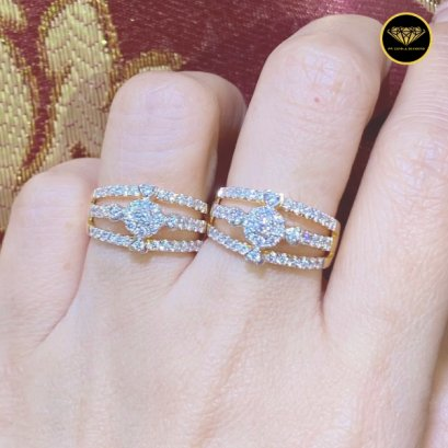 The three crossover focus big top diamond ring R0035G18KPW
