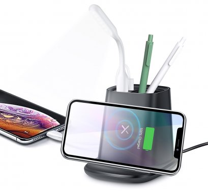Wireless Charging Desktop Pen Holder