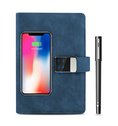 Power Bank Notebook with Digital Lock