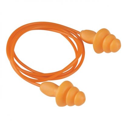 ปลั๊กลดเสียงมีสาย สีส้ม 3M 1270 (Ear Plugs)