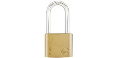 Yale Essential กุญแจคล้องทองเหลืองแท้ 40มม. ห่วงยาว