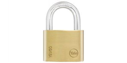 Yale Essential กุญแจคล้องทองเหลืองแท้ 50มม. ห่วงสั้น