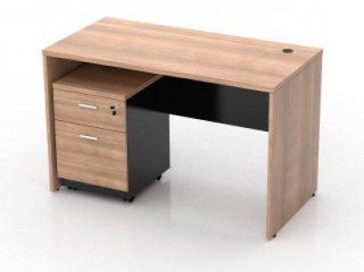 โต๊ะทำงานไม้ ตู้ลิ้นชัก 2 ลิ้นชัก