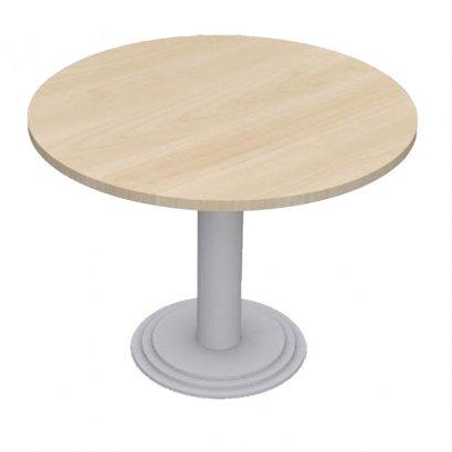 โต๊ะประชุมทรงกลม ขาเหล็กสีเทา