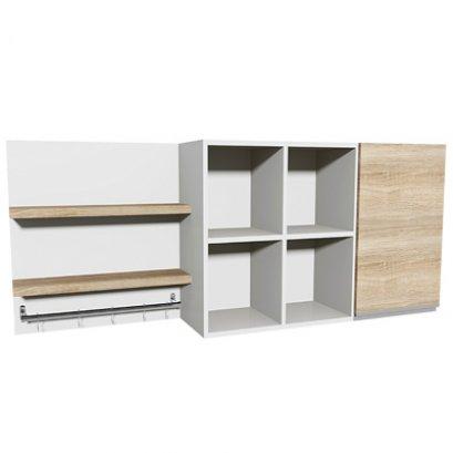 ชุดตู้ครัวแขวน 1.60 M. 1 บานเปิด 4 ช่องโล่ง