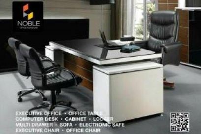 โต๊ะทำงานผู้บริหาร พร้อมตู้ข้างโต๊ะ