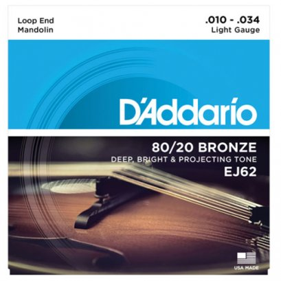 D'ADDARIO สายแมนโดลิน 80/20 BRONZE รุ่น EJ62