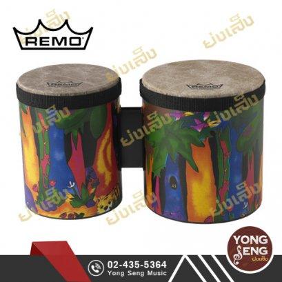 กลองบองโก Remo รุ่น Kid Percussion (ลายป่า) รหัส KD-5400-01