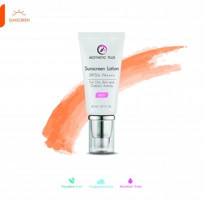 SL01  :  Sunscreen Lotion SPF50+ PA++++  (สำหรับผิวมัน)
