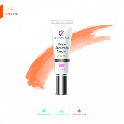 SC02  :  Beige Sunscreen Cream SPF50 PA++   (สำหรับทุกสภาพผิว)