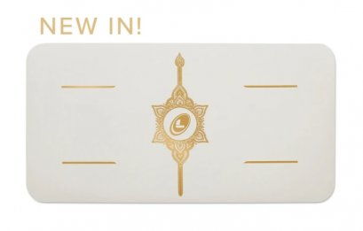 เสื่อโยคะ Liforme - THE LIFORME 'WHITE MAGIC' YOGA PAD : WHITE/GOLD