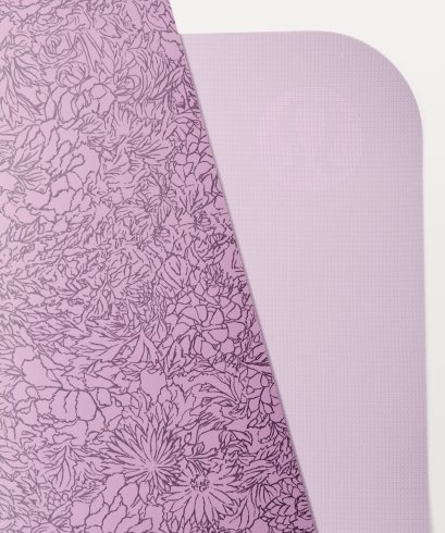 เสื่อโยคะ Lululemon - The Reversible Mat 3mm : Cut flowers smoked stone purple/purple pink
