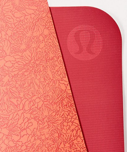 เสื่อโยคะ Lululemon - The Reversible Mat 5mm : Cut Floral/Poppy Coral