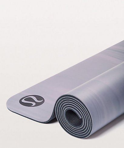เสื่อโยคะ Lululemon - The Reversible Mat 5mm : Dusty Dawn/True Navy