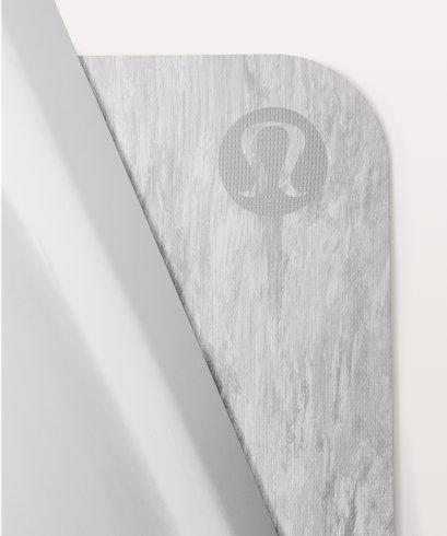 เสื่อโยคะ Lululemon - The Reversible Mat 5mm : Grayish White
