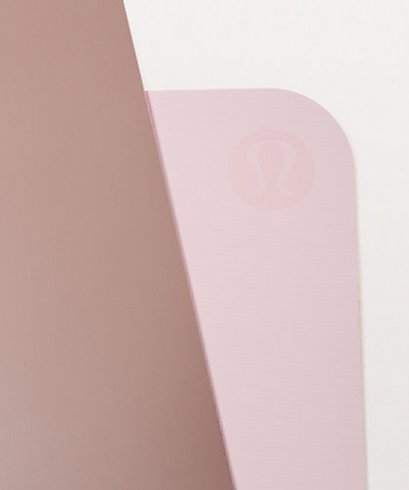 เสื่อโยคะ Lululemon - The Reversible Mat 5mm : Misty Mauve/Porcelain Pink