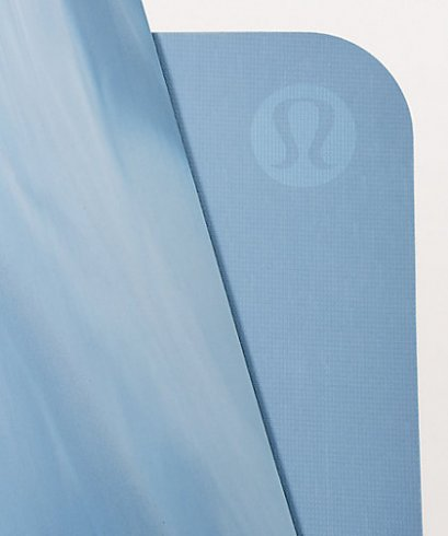 เสื่อโยคะ Lululemon - The Reversible Mat 5mm : Utility Blue/White