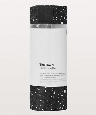 ผ้าปูทับเสื่อโยคะ Lululemon - The Towel Mat :  Bleached Towel Starlight Black