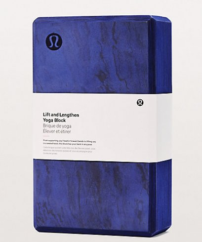 บล็อคโยคะ Lululemon : Lift and Lengthen Yoga Block - Aeon/Blueberry Jam