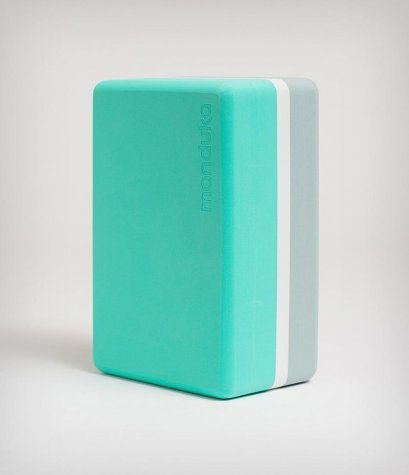 บล็อคโยคะ Manduka : Recycled Foam Block (3-Tone Limited Edition) - SEAFOAM