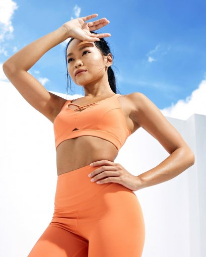 Sweat & Sun -  Pretzel Sports Bra : Tangerine