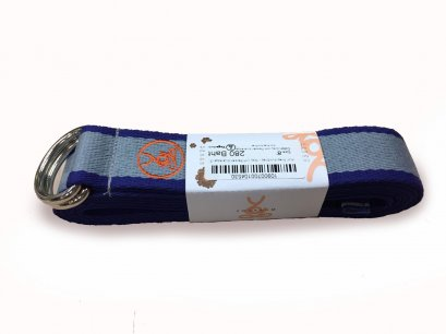 สายสแตรปโยคะ YogaAum : AumStrap - Grey with Persian Blue Edge