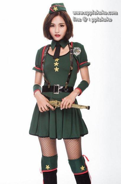 [[สินค้าหมด]] ชุดแฟนซี cosplay ทหารบก ทหารพราน กองทัพ ลายพราง ชุดคอสเพลย์ ชุดทหารบก