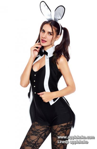 [[พร้อมส่ง]] ชุดแฟนซี cosplay ชุดคอสเพลย์ แฟนซี ชุดกระต่าย บันนี่ Bunny Bunnygirl ชุดกระต่าย