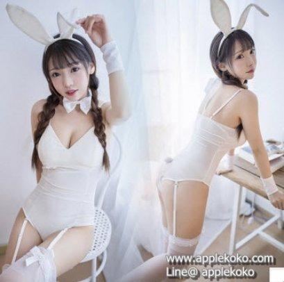 [[สินค้าหมด]] ชุดแฟนซี cosplay ชุดคอสเพลย์ แฟนซี ชุดกระต่าย บันนี่ Bunny Bunnygirl ชุดกระต่ายสีขาว