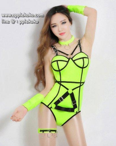 [[สินค้าหมด]] ชุดแฟนซี cosplay ชุดคอสเพลย์ ชุดพริตตี้ นักร้อง DJ ไนท์คลับ ชุดสีเขียว