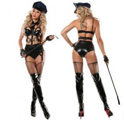 [[พร้อมส่ง]] ชุดแฟนซี cosplay ชุดคอสเพลย์ ชุดตำรวจ Police ชุดสีดำ แบบเซ็กซี่