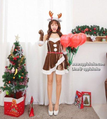 [[สินค้าหมด]] ชุดแฟนซี cosplay แฟนซี คอสเพลย์ ชุดซานตาคอส ซานตี้ ชุดกวางเรนเดียร์