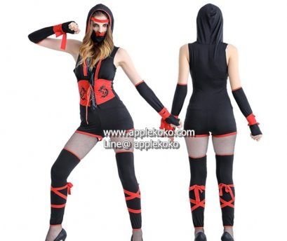 [[สินค้าหมด]] ชุดแฟนซี cosplay ชุดคอสเพลย์ ชุดยอดมนุษย์ ซุปเปอร์ฮีโร่ การ์ตูน ชุดนินจาขาสั้น