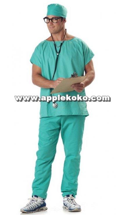 [[สินค้าหมด]] ชุดแฟนซี cosplay คอสเพลย์ ชุดแฟนซี ผู้ชาย ชุดหมอผ่าตัด ชุดสีเขียว